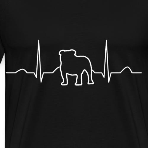 Mopslinie - Männer Premium T-Shirt