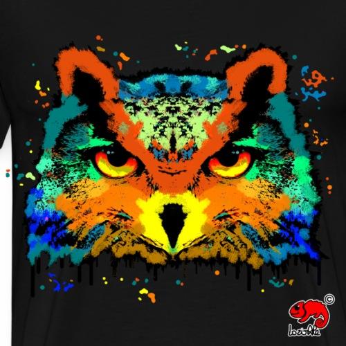 owl illustration graphic - Maglietta Premium da uomo