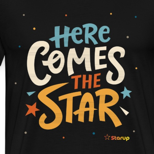 Here comes the star - Herre premium T-shirt
