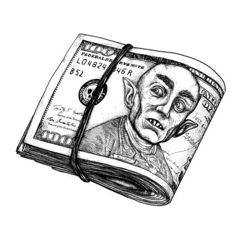 Dólar Nosferatu - Camiseta premium hombre