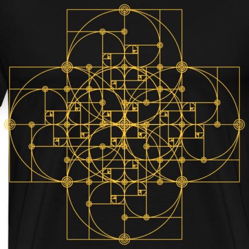 Golden Super Spiral Orange - Men's Premium T-Shirt