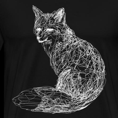 Fuchs weiß - Männer Premium T-Shirt
