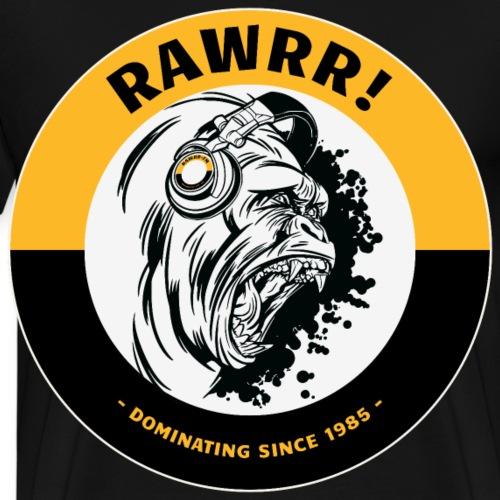 RAWRR Gorilla mit Kopfhörer Geschenk Gym Fitness - Männer Premium T-Shirt