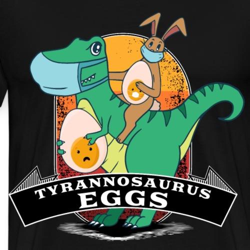 Tyrannosaurus Eggs mit Osterhase Gesichtsmasken - Männer Premium T-Shirt