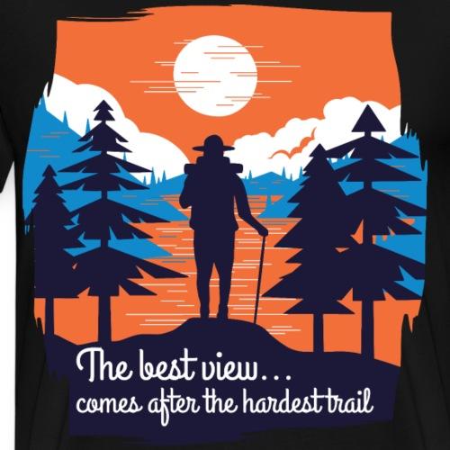 The best view, Die schönste Aussicht Wandern Sonne - Männer Premium T-Shirt