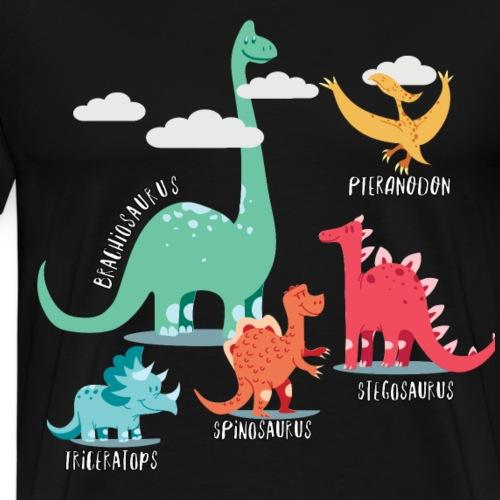 Süße Dinosaurier mit Namen Identifikation Geschenk - Männer Premium T-Shirt