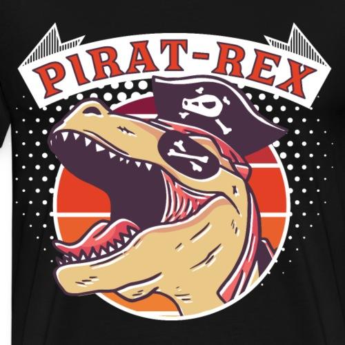 Brüllender Pirate Rex cool Tyrannosaurus Geschenk - Männer Premium T-Shirt