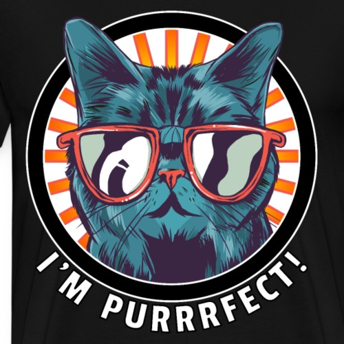 I'm purrrfect! Katze Sonnenbrille Geschenk Perfekt - Männer Premium T-Shirt