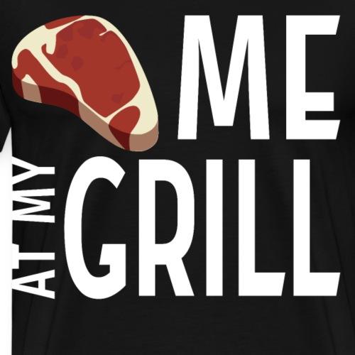 MEET me at my grill BBQ Steak Meister Geschenk - Männer Premium T-Shirt