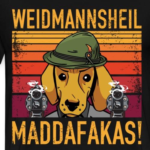 Weidmannsheil Maddafakas! Dackel Jäger Vintage fun - Männer Premium T-Shirt
