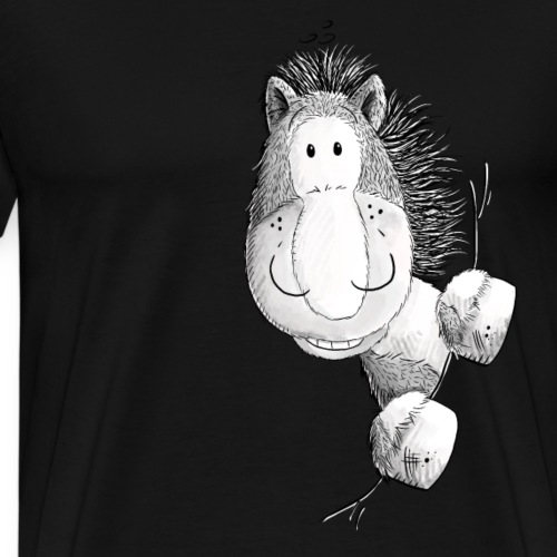 Lustiges Pferd I Pony I Comic - Männer Premium T-Shirt
