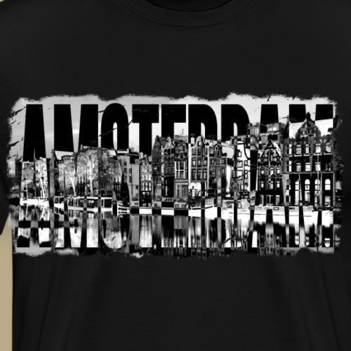 Amsterdam schwarz weiss - Männer Premium T-Shirt