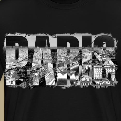 Paris an der Seine mit Grunge Effekt - Männer Premium T-Shirt