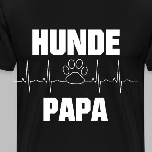 Hundepapa EKG Herzlinie Pfote - Männer Premium T-Shirt