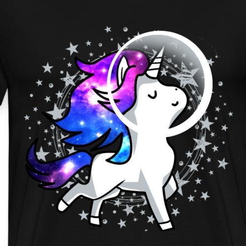 Einhorn Unicorn Astronaut Pony Weltraum Raumschiff - Männer Premium T-Shirt