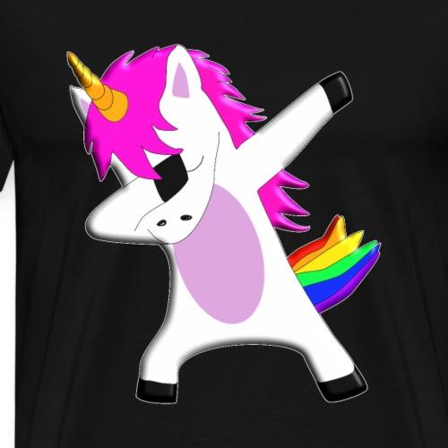 The Dabbing Unicorn - tanzendes Einhorn - Männer Premium T-Shirt