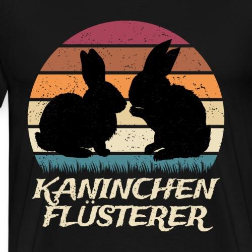 Kaninchenflüsterer Retrostyle Kaninchen Silhouette - Männer Premium T-Shirt