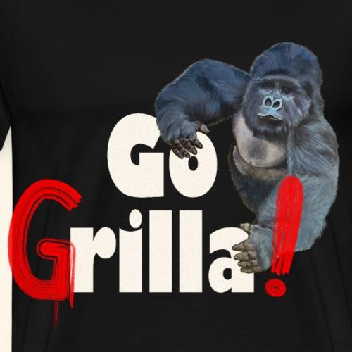 Witziges Gorilla Go Grilla Sommer Grillparty Fest - Männer Premium T-Shirt