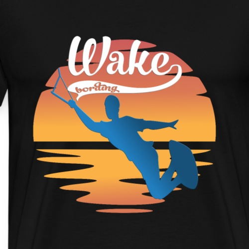 Wakeboarding Wakeboard Sunset Wassersport - Männer Premium T-Shirt