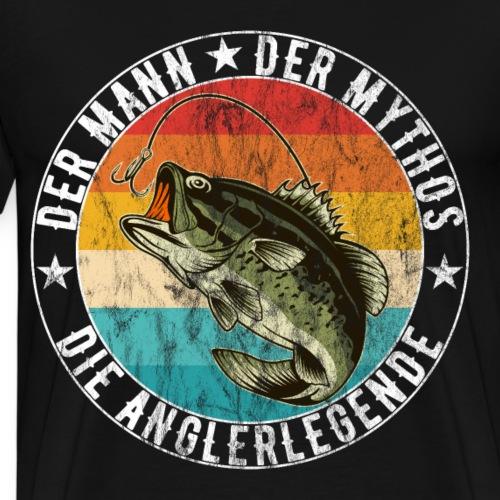 Angler - Der Mann Der Mythos Die Anglerlegende - Männer Premium T-Shirt