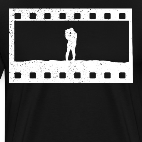 love couple movie scene cute present - Männer Premium T-Shirt