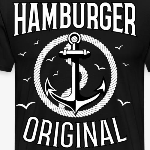 95 Hamburger Original Anker Seil - Männer Premium T-Shirt