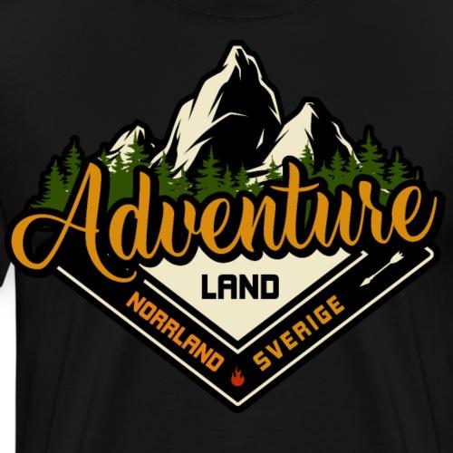 Adventure Land Norrland Sverige - Premium-T-shirt herr