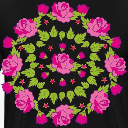 02 Mandala Rosen - Männer Premium T-Shirt