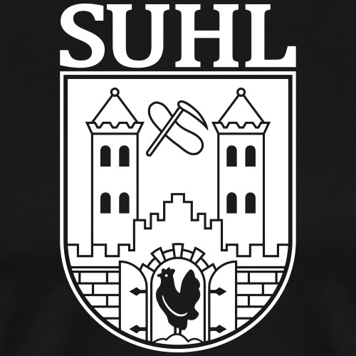 Suhl Coat of Arms (white) - Men's Premium T-Shirt