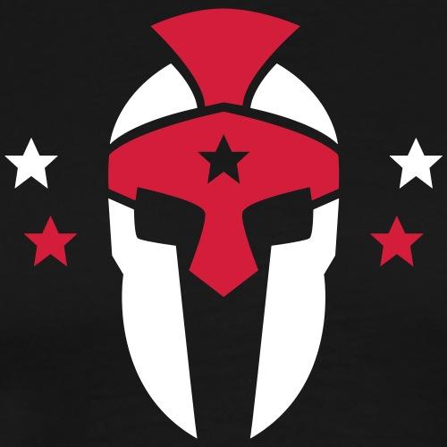 4XF Helmet Front & Back - Männer Premium T-Shirt