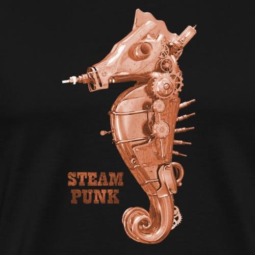 Steampunk Seepferdchen Retro Futurismus - Männer Premium T-Shirt