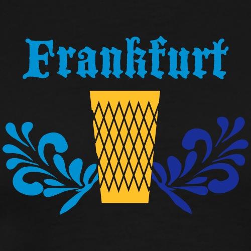 Frankfurt Geripptes - Männer Premium T-Shirt