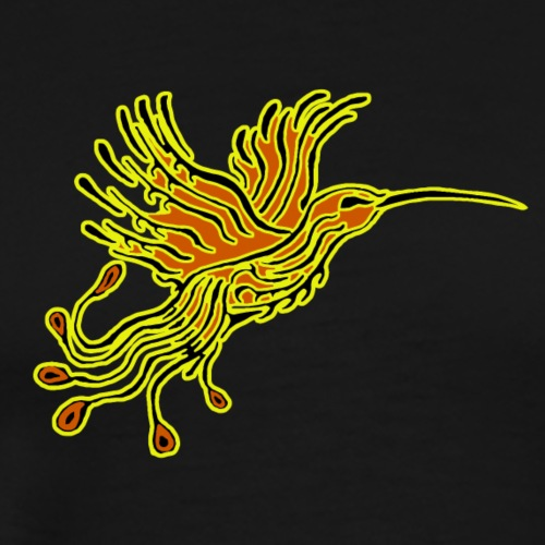 Colibri-Phoenix Tribal Orange YellowCanary - T-shirt Premium Homme