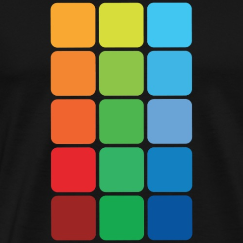 Square color - Maglietta Premium da uomo