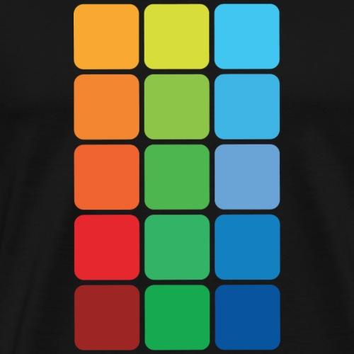 Kvadratisk farve - Herre premium T-shirt