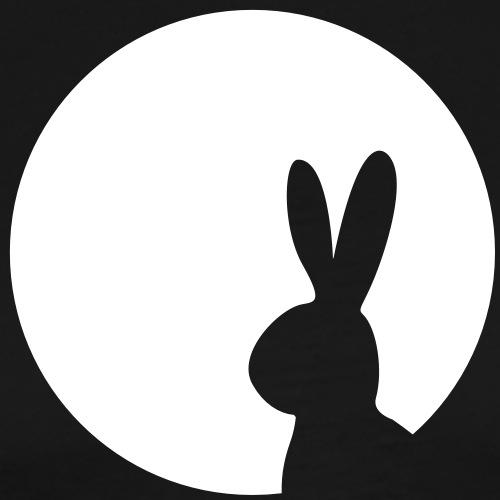 Moony Hase im Mond Kaninchen Häschen - Männer Premium T-Shirt