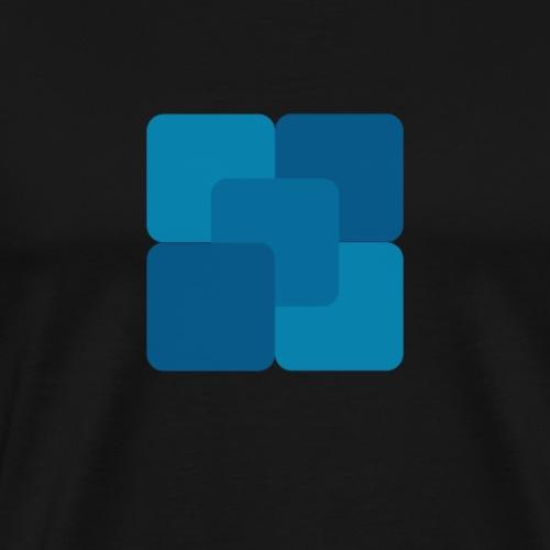Firkantet væske - Premium T-skjorte for menn