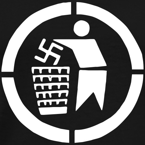 Nazis into Trash - Männer Premium T-Shirt