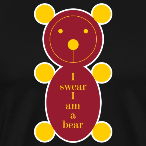 I swear I am a bear 001 - Mannen Premium T-shirt