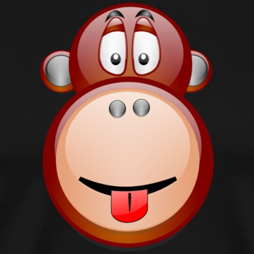 Cheeky Monkey big ape with tongue poking out - Men's Premium T-Shirt