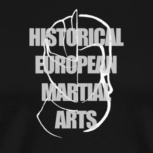 Historical European Martial Arts (White) - Men's Premium T-Shirt