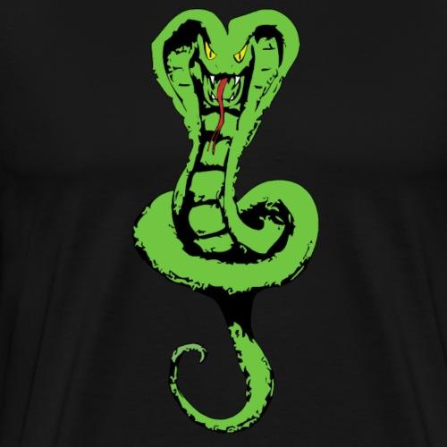 Schlange groß vorne - Schrift hinten - Männer Premium T-Shirt
