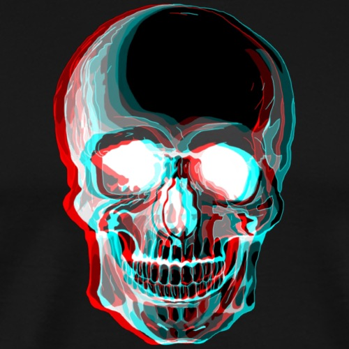 3D Skull - Men's Premium T-Shirt