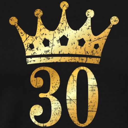 30. Geburtstag Krone (Vintage Goldgelb) - Männer Premium T-Shirt