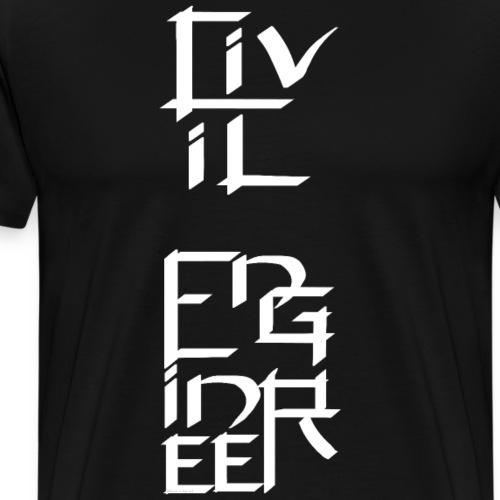 Civil Engineer White Character - Men's Premium T-Shirt