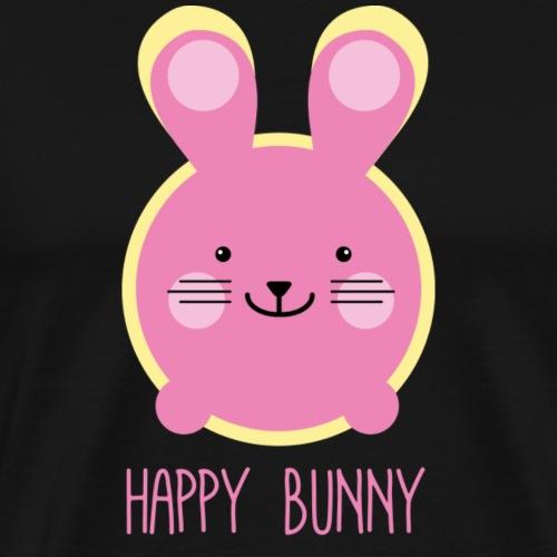 Happy Hase in Pink - Männer Premium T-Shirt