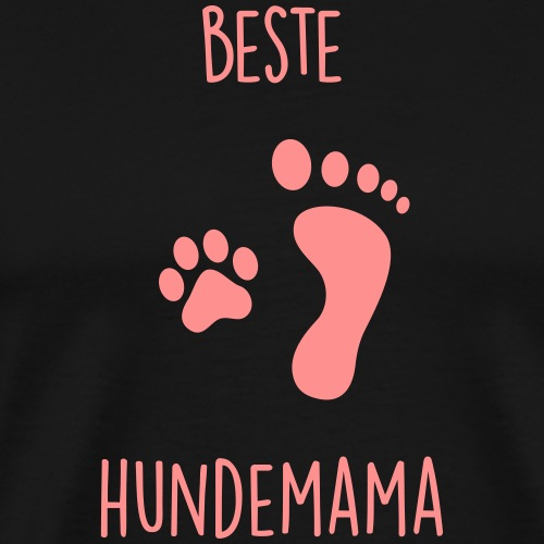 Beste Hundemama - Männer Premium T-Shirt