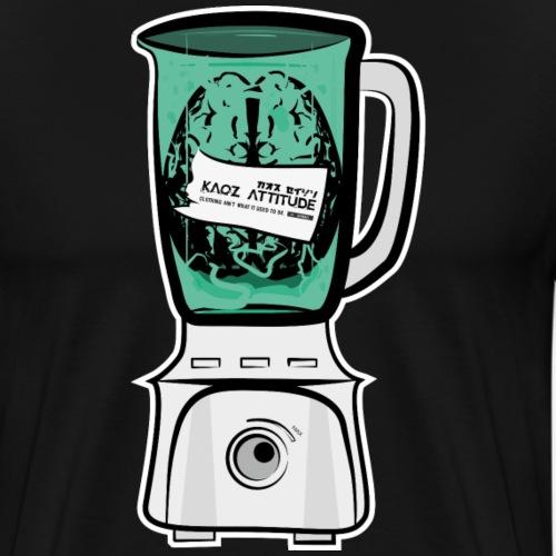 Hirn im Mixer - Männer Premium T-Shirt