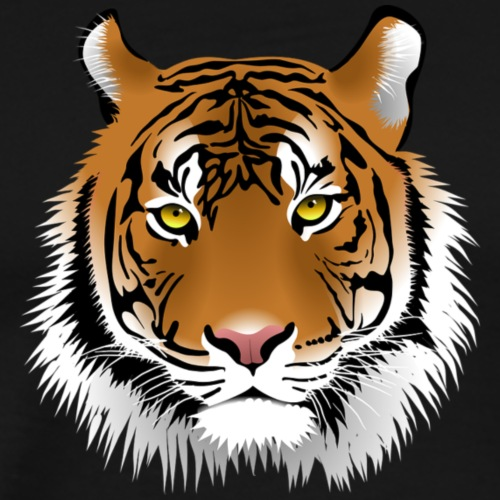 T-Shirt selbst gestalten sehr billig Tigerkopf - Männer Premium T-Shirt