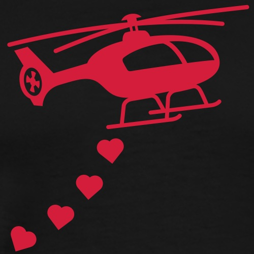 Army Helicopter Bombing Love - Men's Premium T-Shirt
